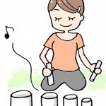 イラストプレゼント第1弾!セラピストがクリスタルボウルを演奏しているイメージを描くには【漫画で学ぶ伝えるチカラ】