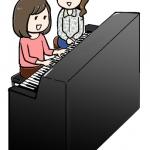 イラストプレゼント:ピアノのレッスン風景♫【漫画で学ぶ伝えるチカラ】